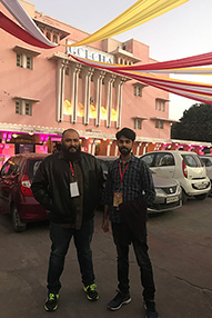 Shashank Sharma and Alok Mishra standing outside the awards venue